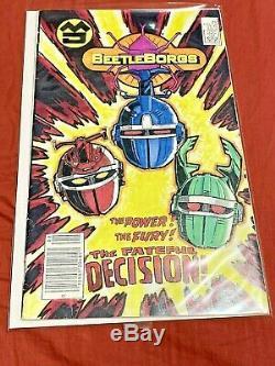 Rare Beetleborgs Screen Used Prop Comic Book No Power Rangers