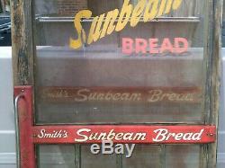 Rare ORIGINAL Store SCREEN DOOR & Push Signs Smith's Sunbeam Bread