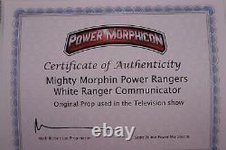Screen Used Mighty Morphin Power Rangers White Ranger Communicator With COA