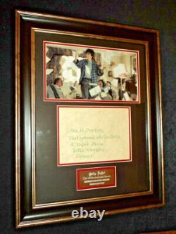 Screen Used Prop Harry Potter & Philosophers Stone Hogwarts Framed Invitation