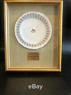 Screen Used TITANIC Prop Dinner Plate by J. Peterman Co. James Cameron Dicaprio