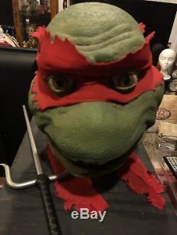 Screen Used Teenage Mutant Ninja Turtles Raphael Tmnt Head Move Prop NM