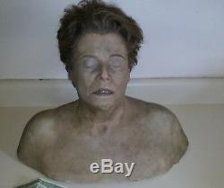 Screen used PROP SCREEN USED SILICONE BUST. Hand punched hair. Looks real