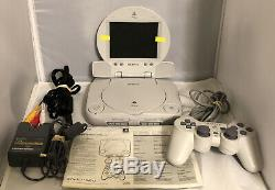 Sony PSOne PS1 White Console SCPH-101 & LCD Screen Original Manuel Complete NICE