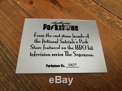 Sopranos Satriales set Stone prop rare COA hbo Tony Soprano screen used
