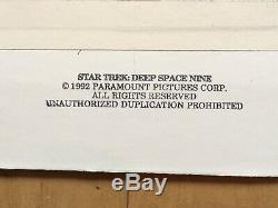 Star Trek Deep Space Nine DS9 Runabout LCARS Panel Artwork Screen Used
