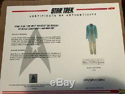 Star Trek original DR. Crusher uniform prop TNG COA screen used