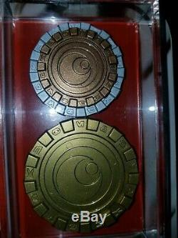 Star Wars The Last Jedi Screen Used Movie Prop (3 Canto Bight Casino Chip Coins)