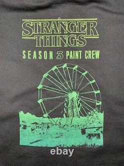 Stranger Things Paint Crew Production Used Sweatshirt Like Screen Used Worn LOA