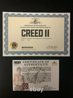Sylvester Stallone Rocky CREED II SCREEN USED Signed Adrian Restaurant Menu COA