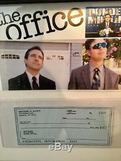 THE OFFICE Michael Scott Screen-Used Prop Personal Check/BankCard Display NBC