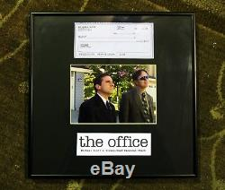 THE OFFICE Michael Scott Screen-Used Prop Personal Check Framed Display NBC