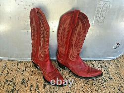 TV Show Screen Used! Old Gringo Classic Western Style Red Boots! Size 9B