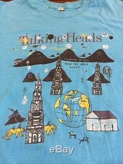 Talking Heads Shirt 1985 Vintage Original Screen Stars Large Cbgb Punk New Wave