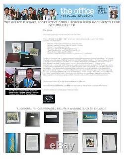 The Office Screen Used Michael Scott Final Episode Employee List Prop COA