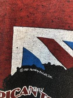 Vintage 80s rare original Rolling Stones 1981 Tour T Shirt Screen Stars