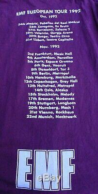 Vintage EMF 1992 European Tour Concert T-shirt Long Sleeves Rare XL Screen Stars