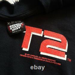 Vintage Terminator Shirt 1991 Movie Tee T-Shirt T2 Black Screen Stars 50/50 XL